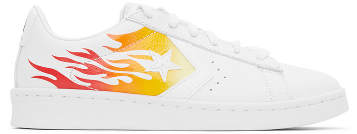 Thumbnail for your product : Converse White Flame Pro Leather OX Sneakers