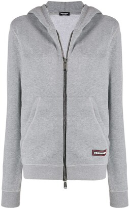 DSQUARED2 Logo Tag Zipped Hoodie