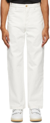 Acne Studios White Twill Straight-Leg Chino Trousers