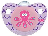 NUK Cute as a Button Sea Creatures Pacifier in Assorted Colors and Styles, Girl, 6-18 Months by
