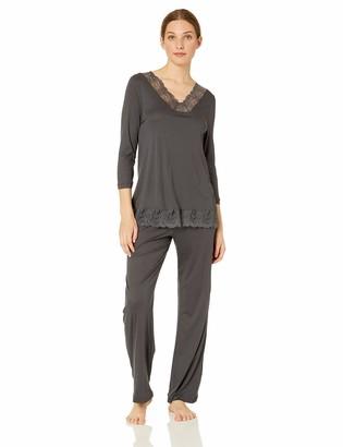Hanro Women's Jolina 3/4 Sleeve Pajama Set