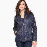 Anne Weyburn Short Microfibre Parka with Water-Repellent and Stain-Resistant Treatment