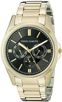 Vince Camuto Men's VC/1084BKGP Multi-Function Gold-Tone Bracelet Watch