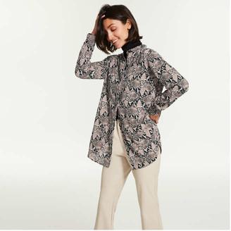 Joe Fresh Women's Mandarin Collar Tunic, Natural (Size XL)