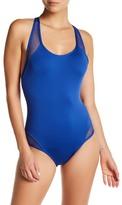 Carmen Marc Valvo Mesh Detail One-Piece Swimsuit