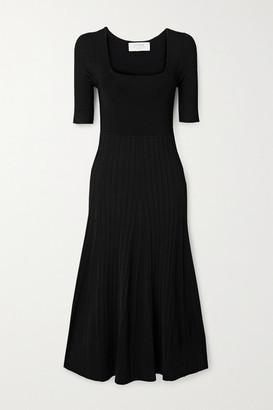 La Ligne Ribbed Stretch-knit Midi Dress