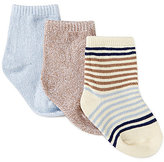 Starting Out Baby Boys 3-Pack Stripe Ribbed Crew Socks