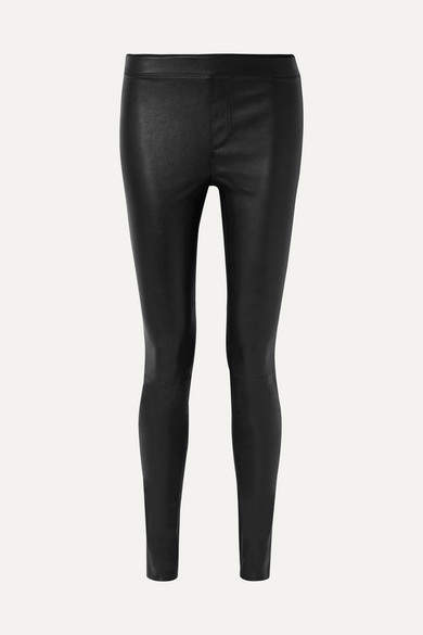 Helmut Lang Stretch-leather Leggings - Black