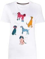 Paul Smith crew neck dogs print T-shirt