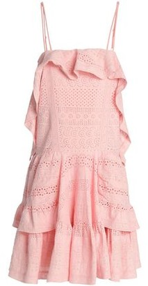 Needle & Thread Ruffled Broderie Anglaise Cotton Mini Dress