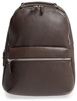 Shinola Men's 'Runwell' Leather Laptop Backpack - Black
