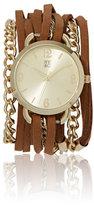New York & Co. Wrap Bracelet Watch