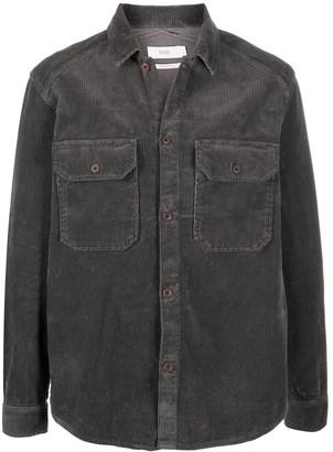 Closed Chest Pockets Corduroy Shirt