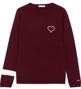 Bella Freud Embroidered Cashmere Sweater - Burgundy