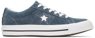 Converse Navy and White Suede One Star OX Sneakers