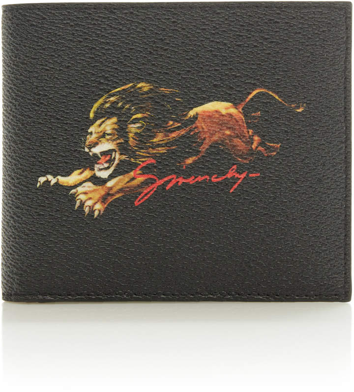 Givenchy Printed Faux Leather Billfold Wallet