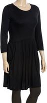Celeste Black Pocket Skater Dress - Plus