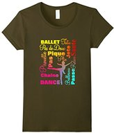 Kids Ballet Dancers Colorful Bright Text Typography T-Shirt 4
