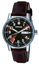 Wenger Men's Commando Series Watch 70162.XL With Striking Dial And Matching Leather Strap