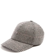 Larose Moon checked wool and cashmere-blend baseball cap