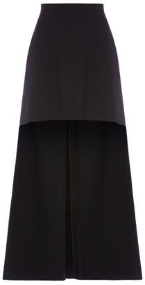 Alexander McQueen Wool-Blend High-Low Skirt