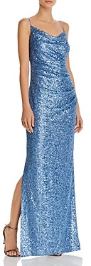 Laundry by Shelli Segal Sequin Cowl Neck Gown