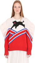 Gucci Panther Embellished Merino Wool Sweater