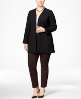 Alfani Plus Size Open-Front Zip-Pocket Jacket, Only at Macy's
