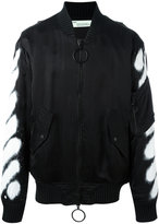 Off-White spray bomber jacket - men - Polyester/Cupro/Viscose - L