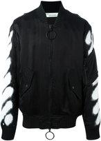 Off-White spray bomber jacket - men - Polyester/Cupro/Viscose - S