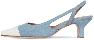 Paris Texas 45mm Denim Slingback Pumps