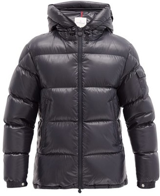 Moncler Ecrins Hooded Quilted Down Jacket - Navy