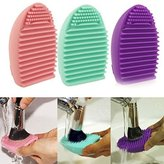 Perfect shopping Cleaning MakeUp Washing Brush Silicone Cosmetic Makeup Brush Finger Glove Hand Cleaning Tools Brush Cleaner Tool(3 color,send at random)