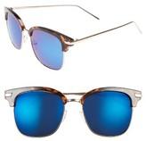 A. J. Morgan Women's A.j. Morgan Ebbets 53Mm Retro Sunglasses - Black/ Mirror