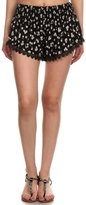 Simplicity Women's Floral Pattern Lace Summer Beach Shorts L