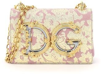 Dolce & Gabbana Brocade Lame Girls Shoulder Bag