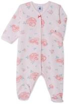Petit Bateau Baby girls print velours sleepsuit