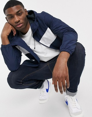 Esprit windbreaker jacket in navy and white colour block