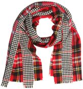 Comme des Garcons Patchwork Plaid & Houndstooth Scarf