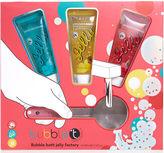 Bubble T Bath & Body - Wobble & Scrub Shower Jelly Set with Shower Puff