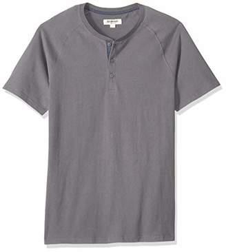 Goodthreads Short-sleeve Sueded Jersey Henley Shirt,(EU XXXL-4XL)
