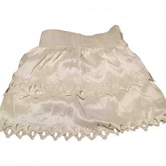 Vanessa Bruno Ecru Silk Skirt for Women