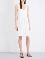 Claudie Pierlot Roby cross-back woven dress