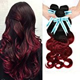 Violet Beauty Two Tone Ombre Hair Body Wave Bundles 8 10 12 inch 7A 100% Brazilian Virgin Real Human Hair Extensions Ombre Color