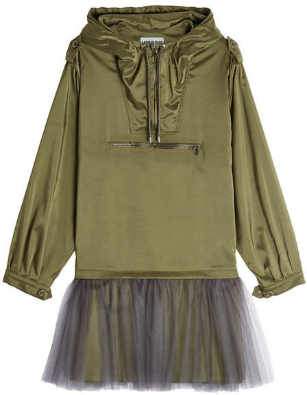 Moschino Anorak Dress with Tulle