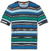Missoni Slim-Fit Space-Dyed Terry-Panelled Cotton and Linen-Blend T-Shirt