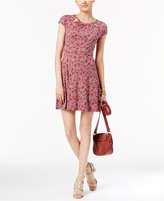 MICHAEL Michael Kors Printed Fit & Flare Dress