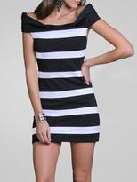 Stripe Panel Dress