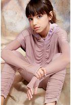 River Island Girls Pink RI Studio mesh sleeve crop top