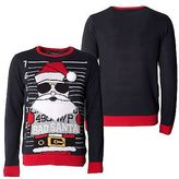 Loyalty And Faith Mens Christmas Sweater Novelty Knitted Black Xmas Jumpers Sizes S -XXL